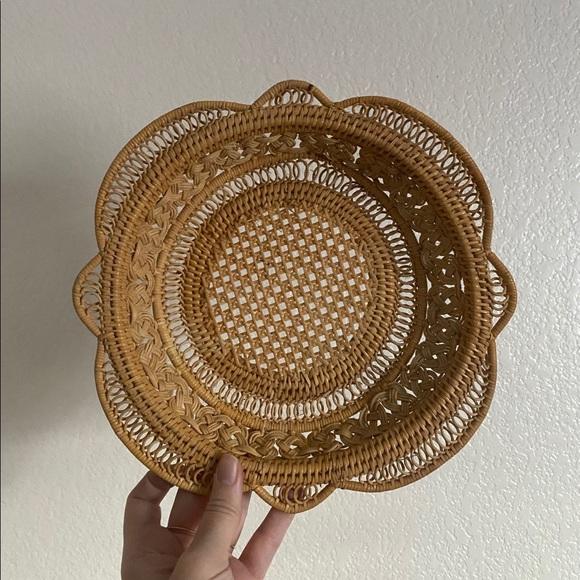 vintage basket tray